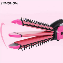 Electric Hair Straighteners Curling 3 in 1 Machine Iron Hair Straightening Curler Roller random color one size