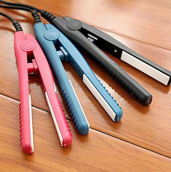 Mini Ceramic Straightener Flat Iron Curling Irons Styling Tools random color one size