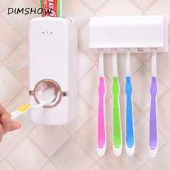 Kits Design Bathroom Facility Automatic Toothpaste Dispenser Family Toothbrush Holder Set as picture as picture