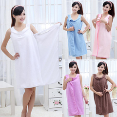 Bath Towels Fashion Lady Girls Wearable Fast Drying Magic Bath Towel Beach Spa Bathrobes Bath Skirt random color 80*160cm