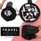 Women Drawstring Cosmetic Bag Travel Makeup Bag Organizer Make Up Case Storage Makeup Cosmetic Bags black