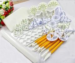 46pcs/set Delicious Fondant Cake Decorating Modelling Tools Set DIY Sugarcraft Cake Decorating Tools as picture