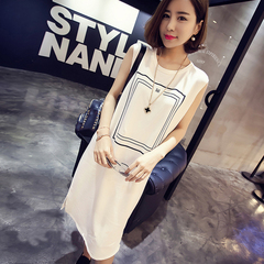 New style women dress spring and summer han edition big yards sleeveless dresses s white