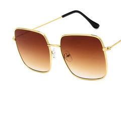 New Square Sunglasses Women Brand Designer Sunglases Men Metal Frame Driving Sun Glasses Female 1 one size