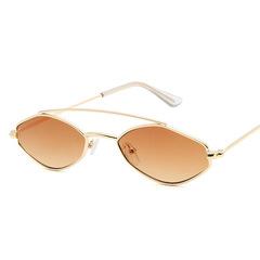 2019 New Ladies Small Oval Sunglasses Retro Metal Frame Polarized Sunglasses Vintage SunGlasses 1 one size