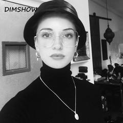 Fashion square frame vintage sunglasses Women Oversized Big Size Sun Glasses Shades UV400 Eyewear 1 one size