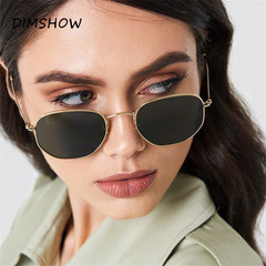 Polygon Sunglasses Women Men Brand Designer Vintage Clear Sun Glasses Sexy Couple Eyewear UV400 1 one size