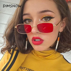 2018 Retro Tiny Slim Sunglasses Women Men Brand 90S Skinny Small Rectangle Men Night Vision Goggles 1 one size