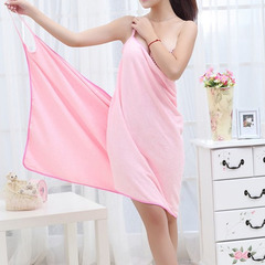 Bath Towel Lady Girl Wearable Fast Drying Magic Bath Towel Beach Spa Bathrobes Bath Skirt rose red 70*140cm