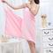 Bath Towel Lady Girl Wearable Fast Drying Magic Bath Towel Beach Spa Bathrobes Bath Skirt pink 70*140cm