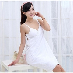 Bath Towel Lady Girl Wearable Fast Drying Magic Bath Towel Beach Spa Bathrobes Bath Skirt white 70*140cm