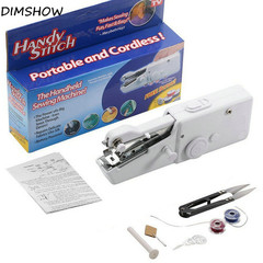Portable and Cordless Mini Handhold Electric Sewing Machine Handy Stitch Home Sewing machine white