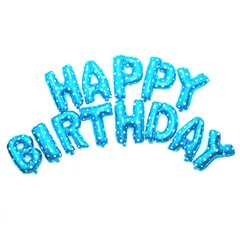 Foil Balloons Happy Birthday letter Balloons balls birthday Party Decorations Helium Balloons Blue 16Inch