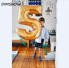 40 inch Foil Balloon Large Helium Number Balloons Wedding Decoration Birthday Party Souvenirs favors gold 1