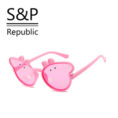 Kids Boy/Girl New Design Fashion Driver Peppa Pig Sunglasses Party Gift pink one size