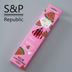 12PCS Lead Free Safe HB Pencil Color Wood Set Pencils School Office Stationery for Students pink