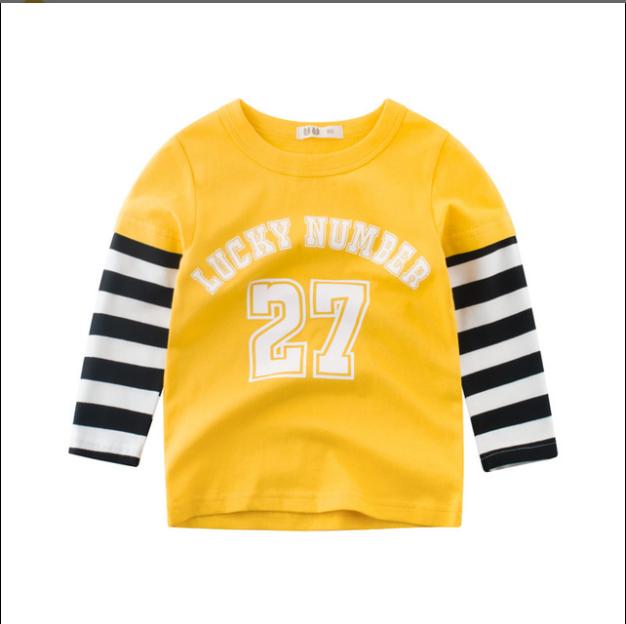 1c6db2a0977a 2018 Autumn Children s Wear Korean Boys Long Sleeve T-Shirt Cotton ...
