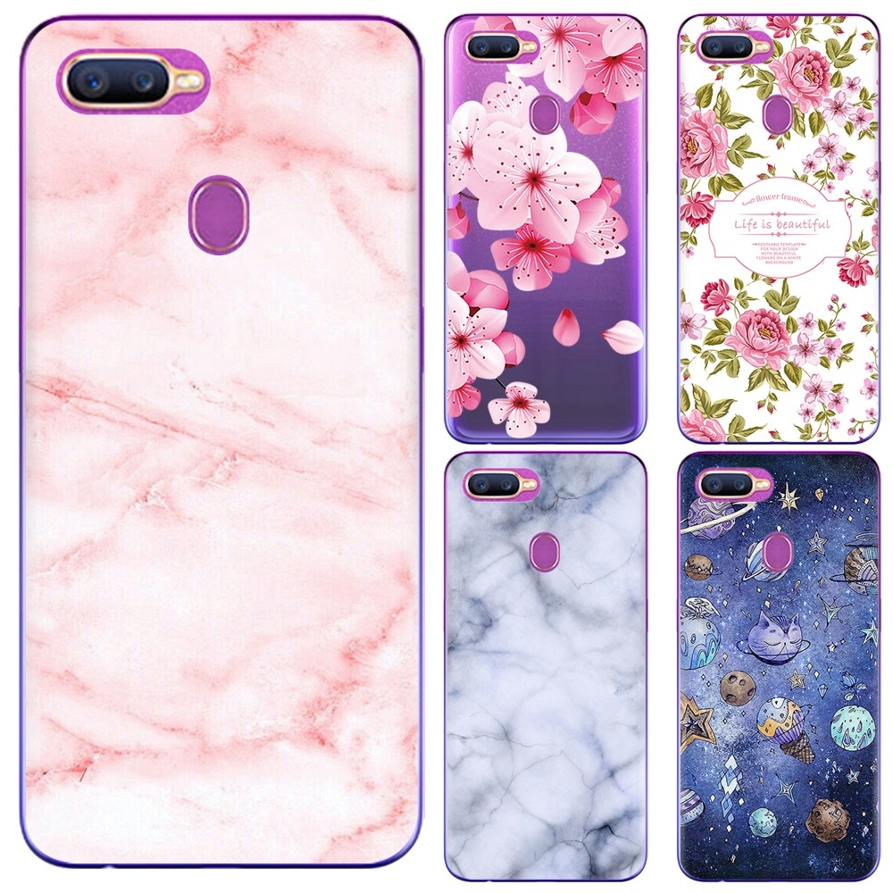 promo code adb23 4a2d8 OPPO F9/F9 PRO/A7X/Realme2 Pr Mobile Shell Mobile Phone Cases Painted  Mobile Phone Cases Soft Shell peach blossom OPPO F9/F9 PRO/A7X/Realme2 Pr