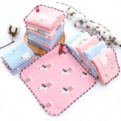 Cotton gauze square towel children's saliva cotton small towel handkerchief baby children towel RANDOM COLOR 25*25cm
