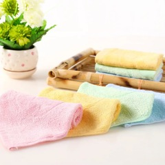 wholesale bamboo fiber square towel small towel children wipes infant nurses baby towel yellow 25*25cm