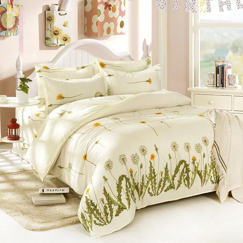 Four Piece Large Size Quilt Cover 200 230cm 1pc Sheets 225 Pillowcase 45 75cm 2pcs