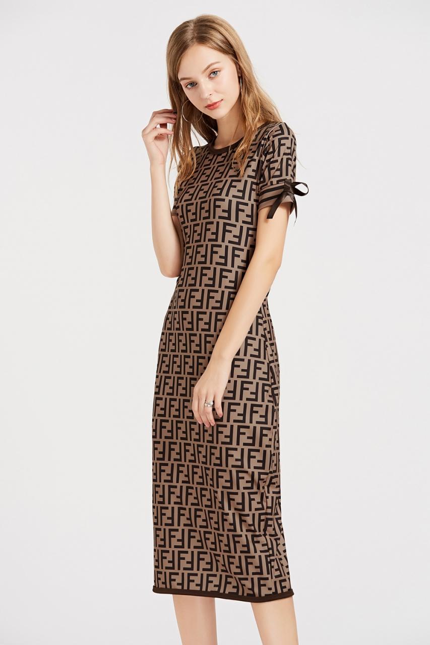 c733135466 Digital printed office lady dress women party short sleeve sheath ...