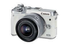 Canon EOS M6 Best Compact System Camera with ef-m 15-45 is stm lens kit Brand new genuine unopened white one size