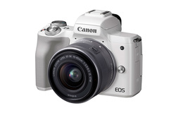 Canon EOS M50 Best Compact System Camera with ef-m 15-45 is stm lens kit Brand new genuine unopened white one size