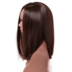 Fashionable lady long hair straight hair chemical fiber wig 1 one size