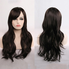 Universal anime wig 70cm long curly hair cosplay wig hair set real shot 1# one size