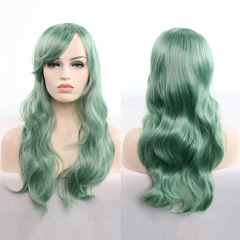 Universal anime wig 70cm long curly hair cosplay wig hair set real shot 2# one size