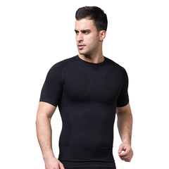 ZEROBODYS men sports outdoor fast drying short sleeved travel sunscreen clothing fitness clothing black S 1
