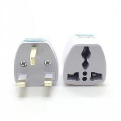 UK Standard Plug Travel universal Wall Charge Socket Power Adapter UK PLUG white