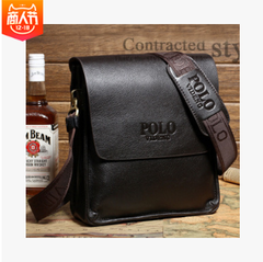 Hot style single shoulder bag Men's business vertical version of the package Paul men's bags Brown small As shown in figure