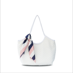 Beach bag, ladies handbag, shoulder bag, fashion bag. white As shown in figure