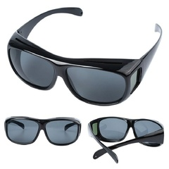 HD Car Driving Sunglasses Night Vision Wrap Arounds Yellow Lens Over Unisex Glasses black one size