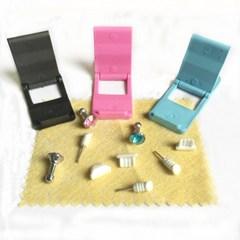 3C Digital accessories set capacitor pen holder rhinestone dust plug small gift bag random one size