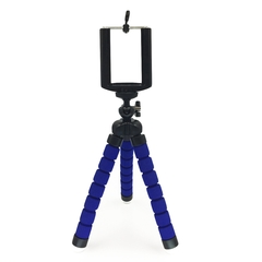 Tripod + Clip Stand MiniFlexible For Camera Mobile Phone Holder Stand FlexibleSponge Tripod Bracket blue one size