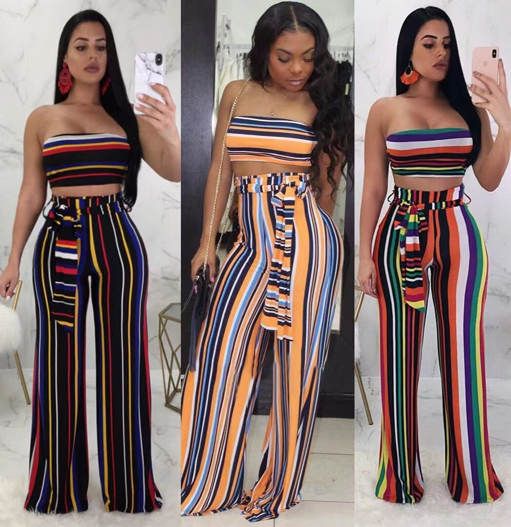 ff6c749d3d 2018 fashion new style Women Two Piece Outfits Off Shoulder Crop ...