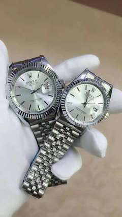 Rolex datejust silver watces watch quartz movement silver male 40mm with official box