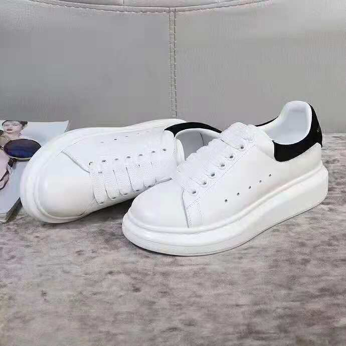 Alexander Mcqueen white fashion shoes classical sheepskin inside for  sneaker women 39 pink