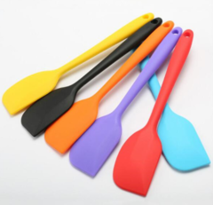 Kitchen Silicone Cream Butter Cake Spatula Mixing Batter Scraper Brush Butter Mixer Brushes Baking black as show
