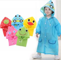 1PC Cartoon Animal Style Waterproof Kids Raincoat For Children Rain Coat Rainwear/Rainsuit Student yellow
