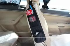 Car Seat Storage Bag Car Organizer For Stowing Tidying Auto Seat Side Bag Hanging Pocket Bags black free size