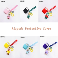Cute Silicone Airpods Protective Cover Apple Bluetooth Headset Case Pink other