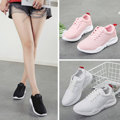 2018 New women shoes, fashion sneakers cloth shoes, net shoes, sports shoes, casual shoes. black 36