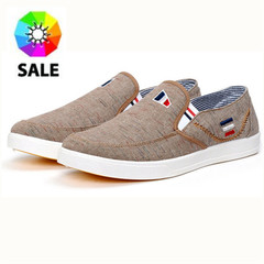 A male canvas shoes sports shoes men shoes,casual shoes and fashion sneakers, beach leisure coffe 39