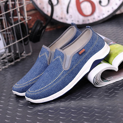 Gentlemen handsome jeans canvas shoes men shoes loafers casual shoes flat shoes party shoes slippers blue 41