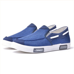 THE Ocean series  casual shoes, men shoes, canvas shoes, party shoes, flat shoes gentleman shoes blue 40