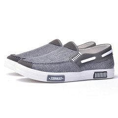 Limited time special offer casual shoes men shoes, canvas shoes, party shoes, flat shoes gray 42